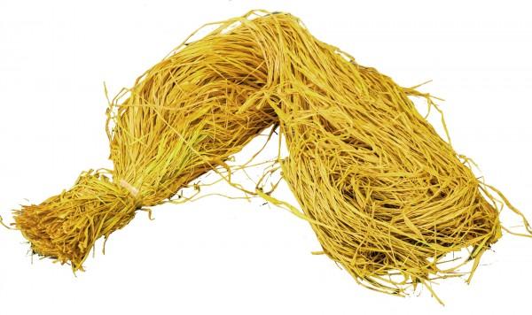 Raphia Bast gefärbt gelb