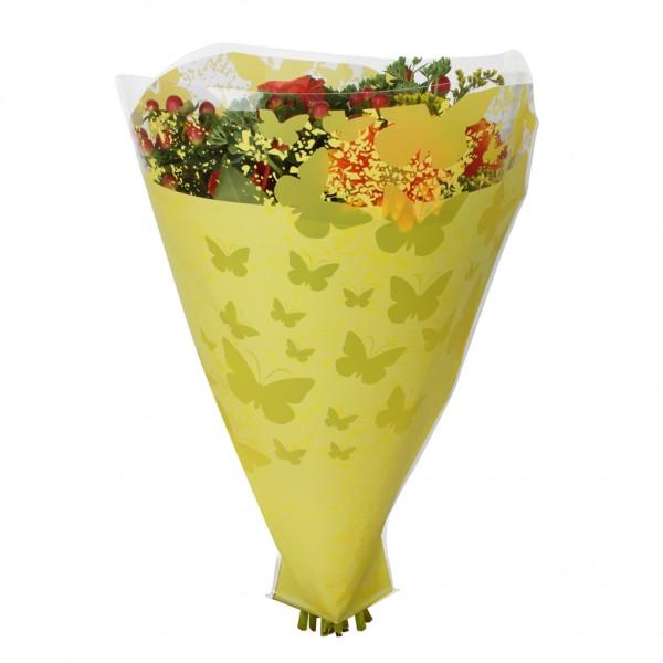 Blumentüten 52/44/12 Monarch gelb (50 Stück)