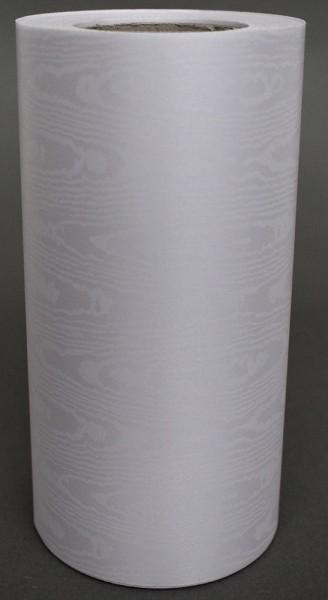 Kranzband Moire 150mm 25m weiß