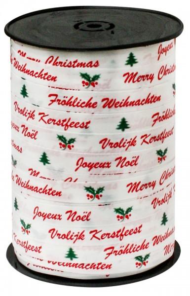 Kräuselband 10mmx250m Fröhliche Weihnachten