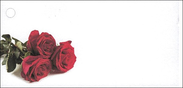 Blumenkarten Rosen (100 Stück)