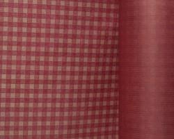 Manschettenpapier 25cm/100m Karo rot auf braun