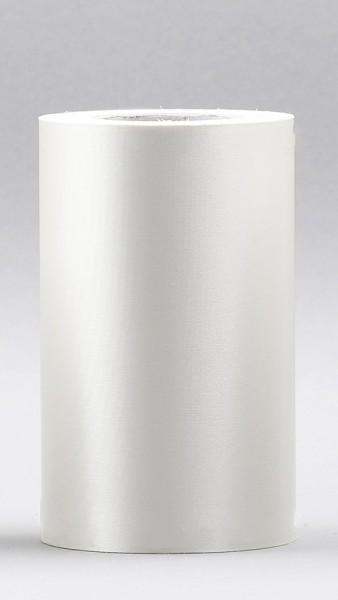 Kranzband Supersatin 75mm 25m weiss