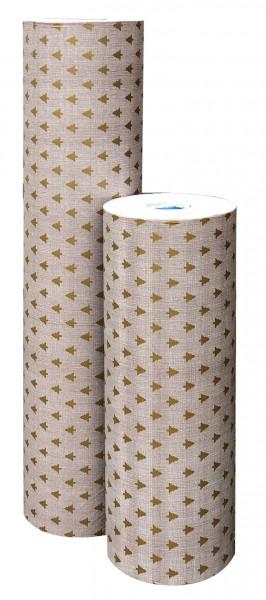 Weihnachtspapier 50cm 30g Zauberwald taupe-gold (7kg)-Copy