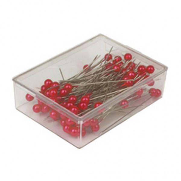 Stecknadeln 6mm rot (100 Stück)