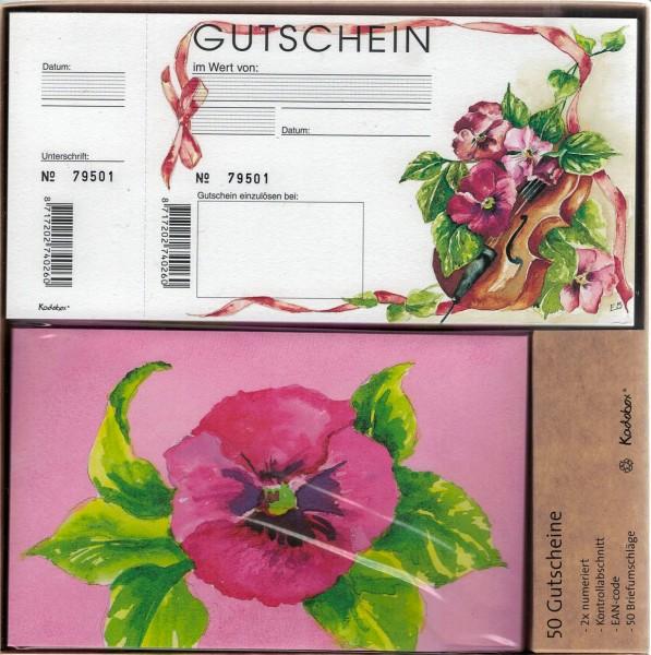 Gutscheine Kadobox Veilchen (50 Stück)