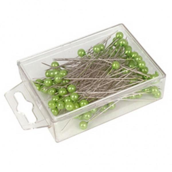 Stecknadeln 6mm grün (100 Stück)