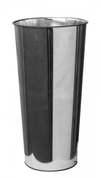 Zinkvase rund i20/15x40cm AZI906