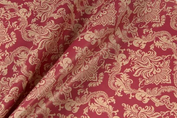 Blumenpapier Venezia weinrot 50cm