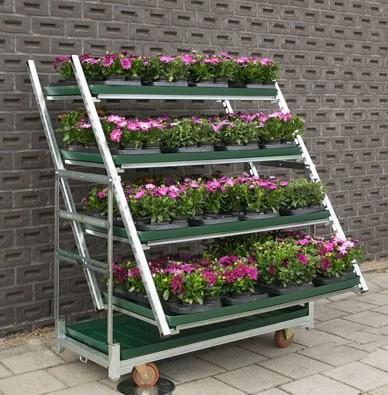 Pflanzenwagen CC Container Displaysystem Schrägsteller
