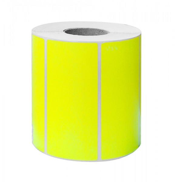 Etikett 100x50 fluor gelb 1000 Stück