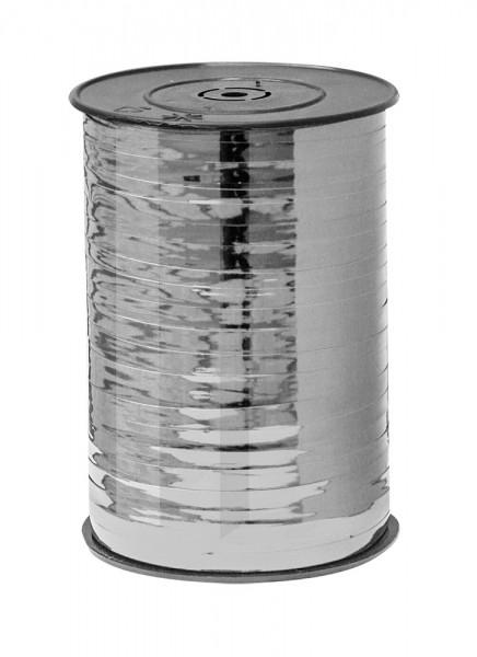 Kräuselband 10mmx250m silber metallic