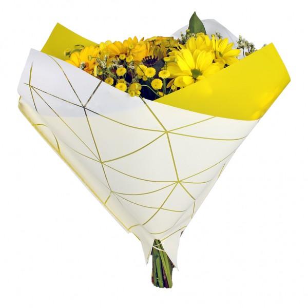 Blumentüten 35/35 Oblique Diesel gelb (25 Stück)