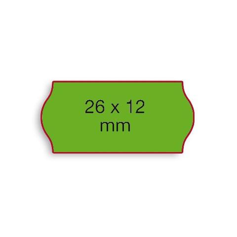 Etiketten Contact 26x12mm grün Fluor G2 Permanent 1500 Stück