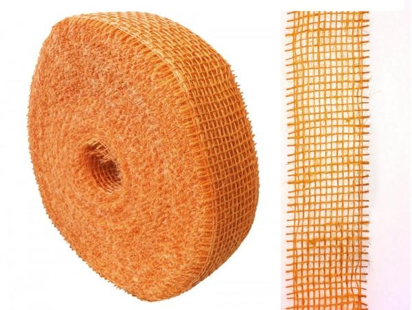 Jute 5cm/40m orange