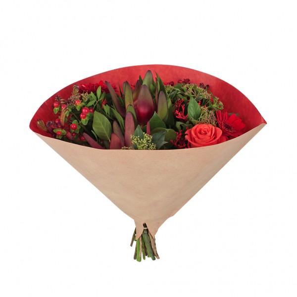 Blumentüten 35/35 Angelo braun kraft-rot 70g (25 Stück)