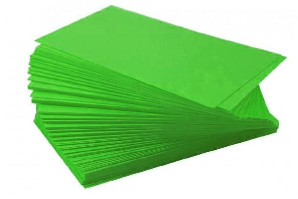 Ersatzschilder 110x65mm grün (100 Stück)