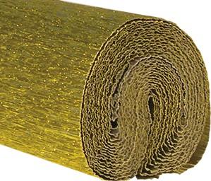 Krepppapier 125g 50x250cm gold Alukaschiert 5 Stück
