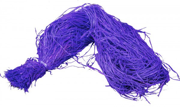 Raphia Bast gefärbt lila 500g