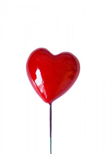 Beistecker 25cm Herz 3x3 rot (48 Stück)