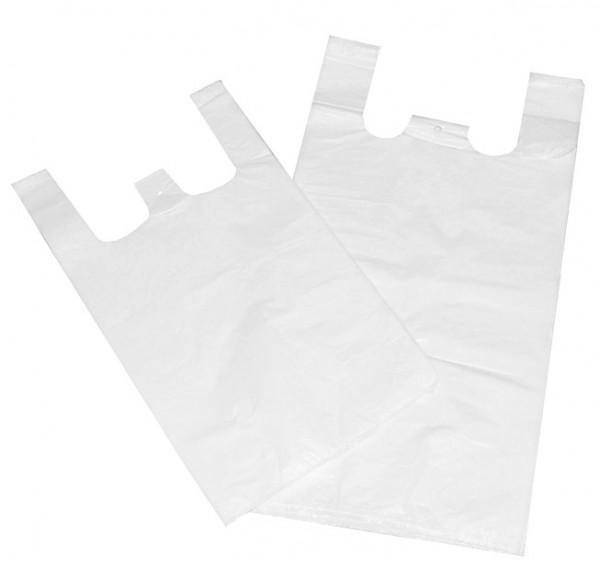 Hemdtragetasche HDPE 300+200x600 Weiß (1000 Stück)
