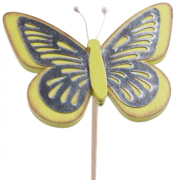 Beistecker Schmetterling Tess grün 9cm (25 Stück)