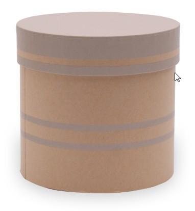 Hutschachtel foliert d=12,5cm x h 12cm Duo Lines grau