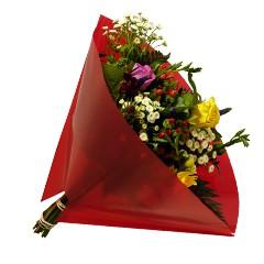 Blumentüten 40/40 Angelo Pearl rot 50 Stück