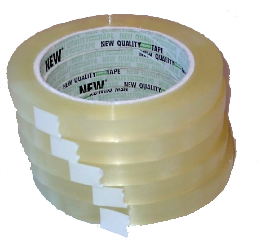 Klebeband PP 15mm 66m transparent 10 Rollen