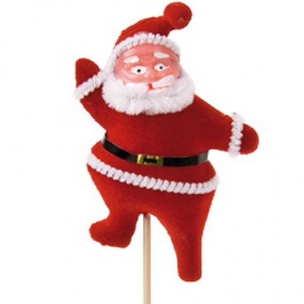 Beistecker Santa rot 9cm (25 Stück)