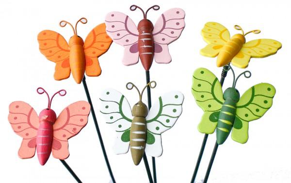 Beistecker Schmetterlinge 3,5x4,5cm 6 Farben (36 Stück)