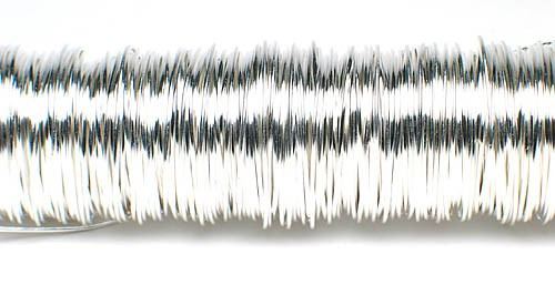 Decodraht silber hochglänzend 0,55mm/100g