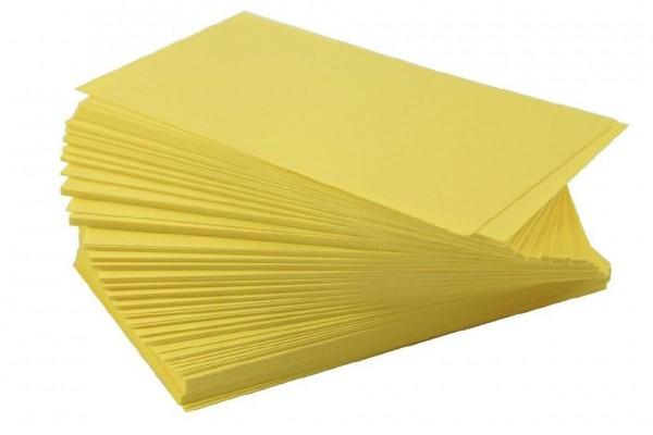 Ersatzschilder 110x65mm gelb (100 Stück)