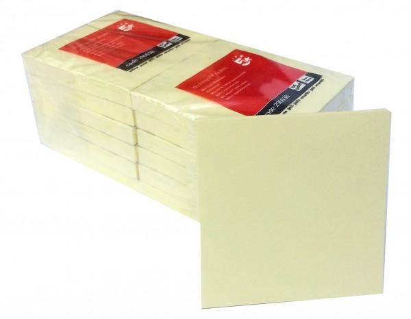 Memoblöcke 76x76mm gelb (100 Blatt á 12 Block)