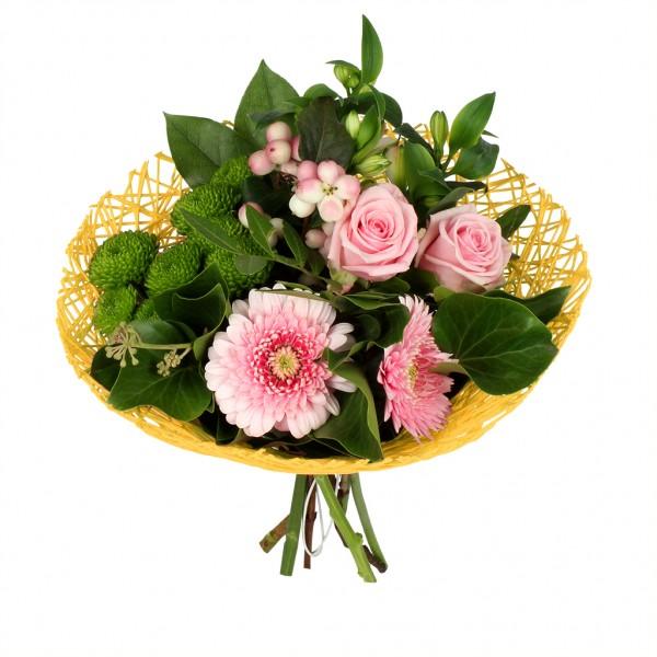 Bouquethalter Twist Ø20cm gelb (300 Stück)