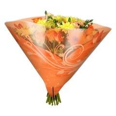 Blumentüten 35/35 Angelo Shade orange (50 Stück)