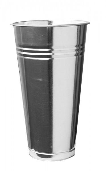 Zinkvase rund Riffel 27cm-Copy