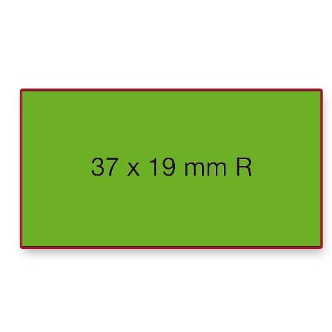 Etiketten Contact 37x19mm grün Fluor Permanent 1000 Stück