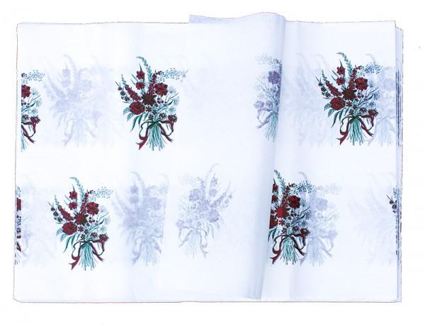 Blumenpapier Bögen 60x85 40g weiß Kraft roter Strauß 10kg
