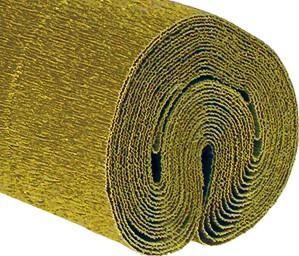 Krepppapier 140g 50x250cm gold gestrichen 5 Stück