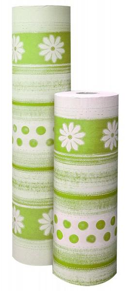 """Blumenpapier """"Fiore e Punti"""" lindgrün 75cm 30g (10kg)"""