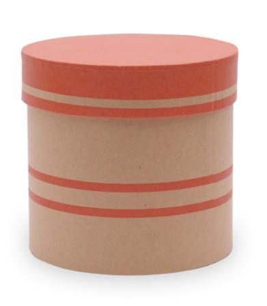Hutschachtel foliert d=12,5cm x h 12cm Duo Lines rot-orange