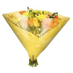 Blumentüten 35/35 Angelo Shade gelb (50 Stück)