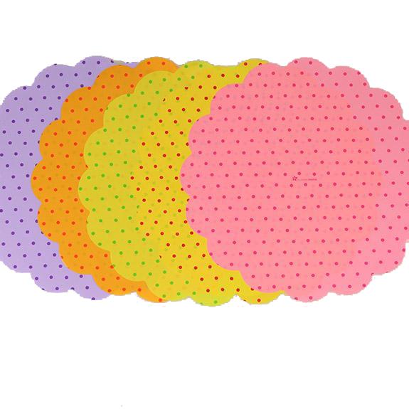 Rondella 47cm Gepunktet 5 Farben Mix 100 Stück