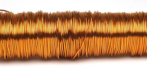 Decodraht Mandarin hochglänzend 0,55mm/100g