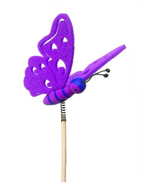 Beistecker Schmetterling Filz lila (10 Stück)