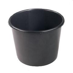 Eimer Konika 8 Liter schwarz breit (50 Stück)