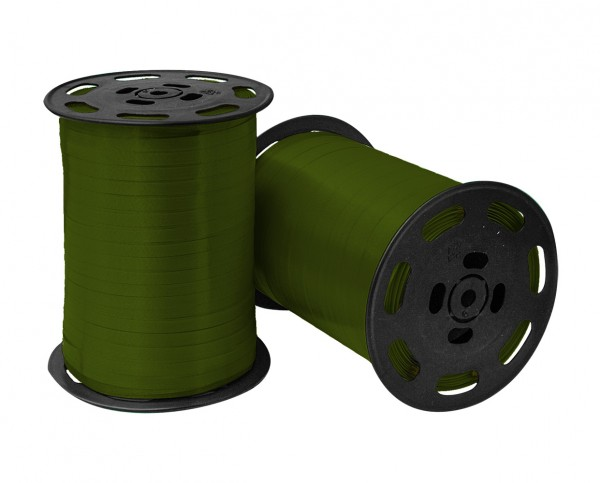 Kräuselband 10mmx250m 03 moosgrün