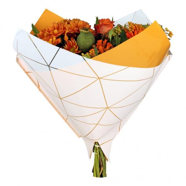 Blumentüten 35/35 Oblique Diesel orange (25 Stück)