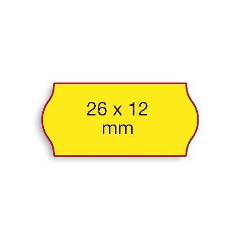 Etiketten Contact 26x12mm gelb Fluor G2 Permanent 1500 Stück